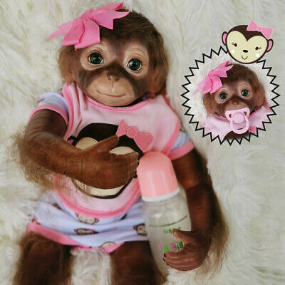 20  Cute Monkey Baby Animals Reborns Realistic Reborn Dolls Kids Xmas Gifts • 44.95£