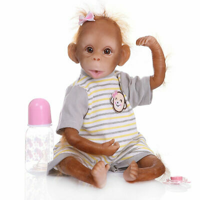 18''/47cm Realistic Reborn Lovely Monkey Animal Baby Girls Boys Dolls Xmas Gifts • 42.50£