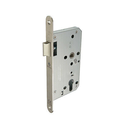 Mortice Latch Euro Lock Case 60mm In Satin Stainless Steel • 8.95£