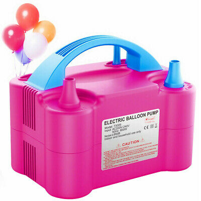 £16.99 • Buy Portable 600W Dual Nozzle Electric Air Pump Party Balloon Toy Inflator Blower UK