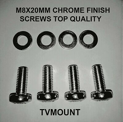 Vesa Tv Bracket Wall Mounting Screws /Bolts For Most Large Tvs M8x20   • 2.99£