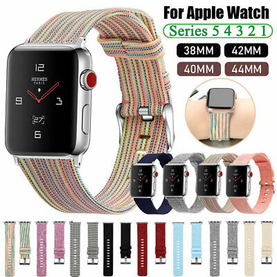 $ CDN7.19 • Buy Fabric Canvas IWatch Band Strap For Apple Watch Series 5 4 3 2 1 40/44mm 38/42mm
