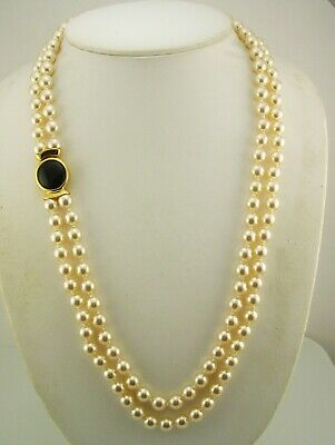 Joan Rivers Double Strand Faux Pearl Reversible Necklace QVC Sold Out W/J R Box • 29.99$