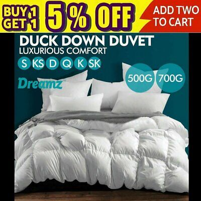 AU28.49 • Buy Clearance! 500/700GSM Duvet Doona Quilt Duck Down Feather Bedding Summer Winter