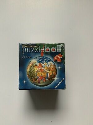 $14.99 • Buy Ravensburger Christmas Puzzle Ball 60 Pieces 7 Cm Winter Village Scene 2005 NEW