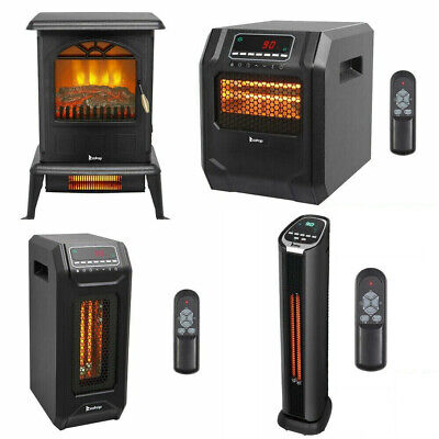 $65.55 • Buy 1500W Infrared Space Heater Electric Fireplace Quartz LED Safe Fire Stove Remote