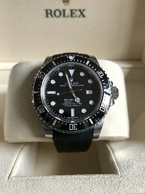 AU20888 • Buy ROLEX 40mm Stainless Steel Sea Dweller 4000 Black Dial 116600 Watch Mens 2014