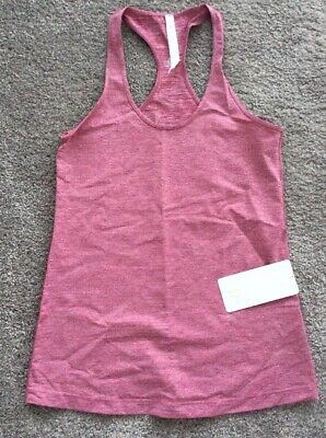 $ CDN69 • Buy Lululemon Cool Racerback Tank Top Heathered Bumble Berry Pink NWT 12 Luxtreme