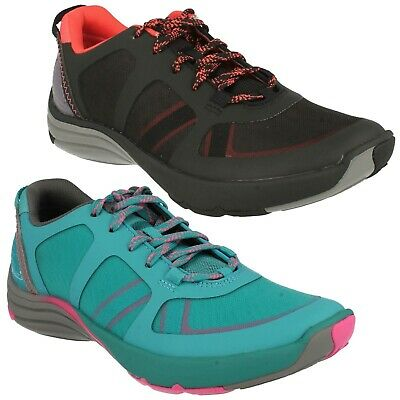 £59.99 • Buy Wave Kick Ladies Clarks Outdoor Lace Up Sports Trainers Mesh Walking Shoes