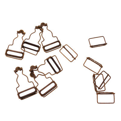 £2.97 • Buy 6 Pieces Dungaree Fasteners Clip Brace Buckles In Silver Or Bronzes