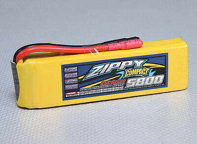 AU66.80 • Buy RC ZIPPY Compact 5800mAh 3S 25C Lipo Pack