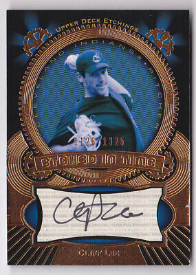 $6.97 • Buy 2004 Upper Deck Etchings Etched In Time Autograph Black Cliff Lee Auto 1126/1325