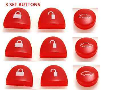 AU10.19 • Buy 3 BUTTONS REMOTE KEY Button RED FOR HOLDEN COMMODORE WH WK WL VS VT VX VY VZ