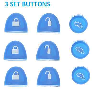 AU10.19 • Buy 3 BUTTONS REMOTE KEY Button BLUE FOR HOLDEN COMMODORE WH WK WL VS VT VX VY VZ