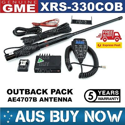 AU594 • Buy Gme Xrs-330cob Outback Pack Xrs 330c Uhf Cb Radio Ae4707b Black Antenna Two Way