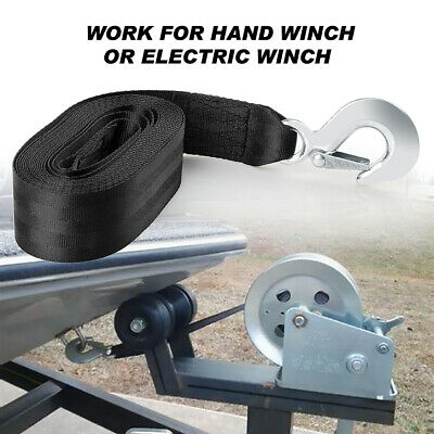 AU25.99 • Buy Trailer Winch Belt Rope Hook Synthetic Strap Car Boat Trailer 10000LBS 20'*2  AU