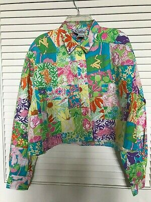 Lilly Pulitzer Medium Short Shirt Jacket Style Top • 19.95$