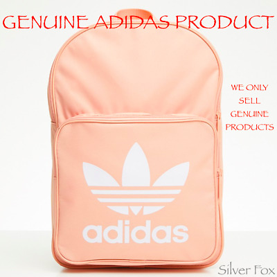 AU39.95 • Buy Adidas Classic Trefoil Dusk Pink Backpack School Travel Sports Gym Bag New