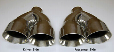 $ CDN234.35 • Buy 3  Inlet QUAD 4  Staggered Out Dual Wall Exhaust Tips FOR Ford Mustang GT 5.0 V8
