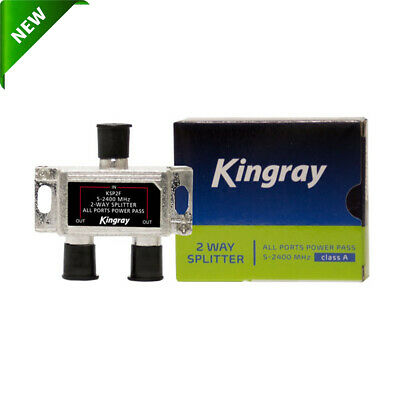 AU9.85 • Buy Kingray 2 Way F-Type Splitter TV Antenna Accessories