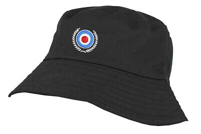 £9.99 • Buy Mod Target Embroidered 100% Washed Chino Cotton Bucket Hat With Cotton Lining