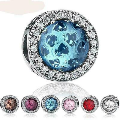 £12.99 • Buy Pandora-CRYSTAL CHARMS-STERLING SILVER 925+POUCH & Bag-CPAN63