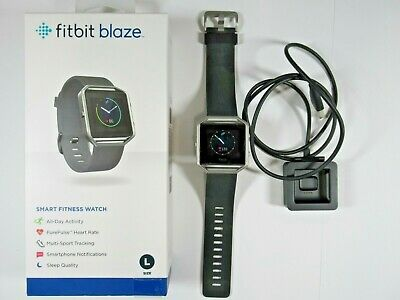 $ CDN97.74 • Buy Fitbit Blaze Smart Fitness Watch~Large~Black Band W/SS Frame/Buckle, WAS $199.95