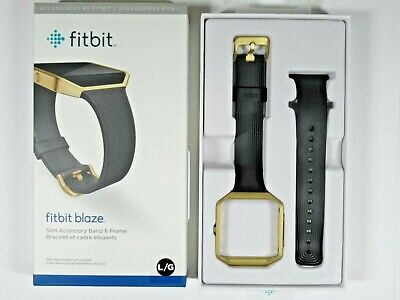$ CDN68.13 • Buy Fitbit Blaze Slim Accessory Band & Frame, Black W/Gold Frame, Lg, WAS $79.95