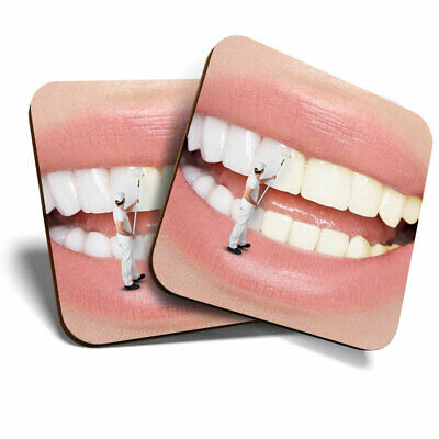 2 X Coasters - Dental Teeth Whitening Dentist Home Gift #21567 • 4.99£