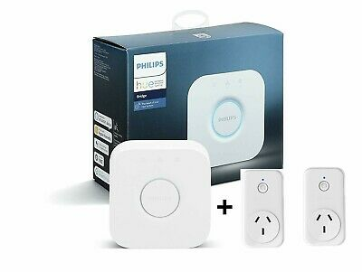 AU148 • Buy Smart Home Starter Kit - Philips Hue Bridge And 2 Smart ZigBee Sockets