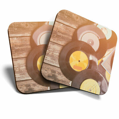 2 X Coasters - Awesome Vintage Retro Music Vinyl Home Gift #14198 • 4.99£