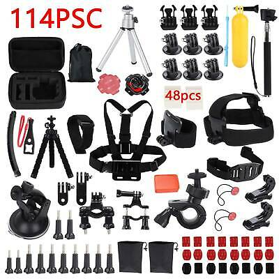 AU33.85 • Buy 114Pcs/Kit GoPro Accessories Action Camera Accessory Chest Strap Head Mount UK