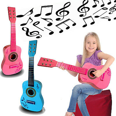 Childrens Guitar Child Kids Wooden Acoustic Musical Instrument Toy Rock Gift • 14.99£