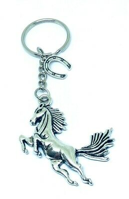 Horse, Equine, Lucky Horse Shoe Pony Keyring Key Ring Gift Party Bag Favours • 3.99£