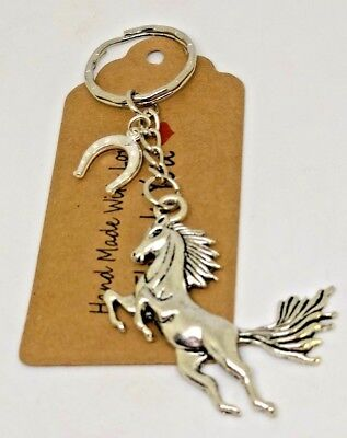 Horse, Lucky Horse Shoe Pony Keyring Key Ring Gift Party Bag Favours • 3.99£