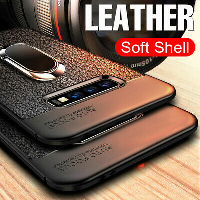 $ CDN6.07 • Buy For Samsung Galaxy S10E S9 S8 Plus Soft Rubber Ring Holder Kickstand Case Cover