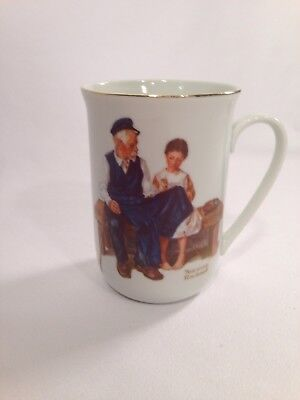 $ CDN6.28 • Buy Vintage 1982 NORMAN ROCKWELL 4  COFFEE CUP MUG The Lighthouse Keeper's Daughter