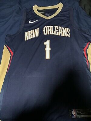 Zion Williamson Blue New Orleans Pelicans Jersey Size Large • 38$