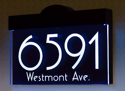 Illuminated LED Lighted Address Sign Plaque Address Numbers House Numbers Sign • 80.05£