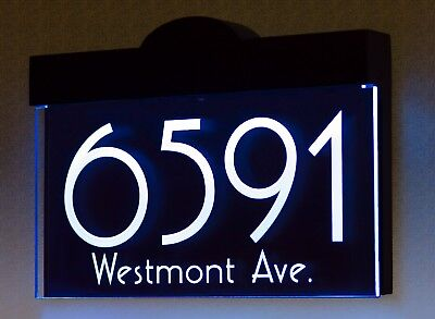 Illuminated LED Lighted Address Sign Plaque Address Numbers House Numbers Sign • 79.44£