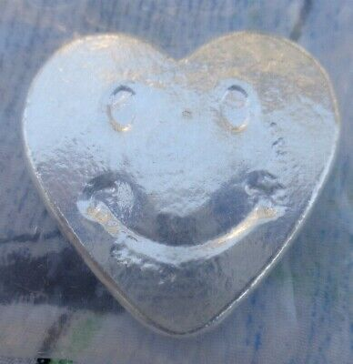 1 Oz. Ericson Mint Happy Face Heart Numbered Ingot .999 Fine Silver • 32.18£
