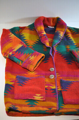 $169.99 • Buy Miller Stockman For Western Living Womens Colorful Coat Medium Made In USA