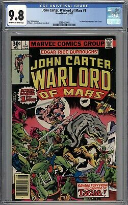 John Carter Warlord Of Mars #1 CGC 9.8 NM/MT 1st John Carter Marvel Appearance  • 59$