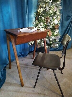 £39 • Buy Vintage Childs School Desk With Free Chair