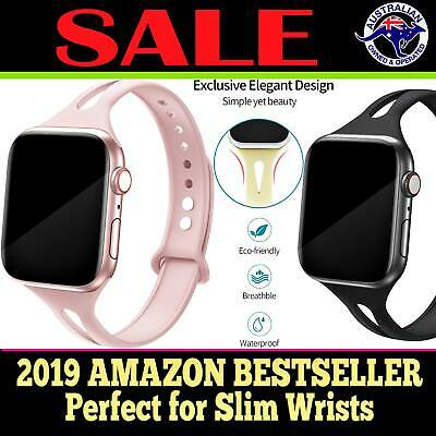 AU11.95 • Buy Silicone Band Sports Strap For Apple Watch Series 5 4 3 2 1 Bracelet 38 40 SLIM