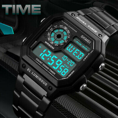 AU18.29 • Buy SKMEI Men Women LED Digital Watch Waterproof Military Wristwatch Sports Watches