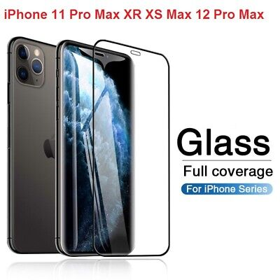 Screen Protector For IPhone X XS XR XS MAX 9D Curved FULL COVER TEMPERED GLASS • 2.19£