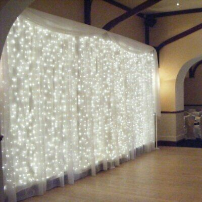 $14.01 • Buy 300 LED Curtain Light String Fairy Wedding Lights Indoor Outdoor Christmas Decor