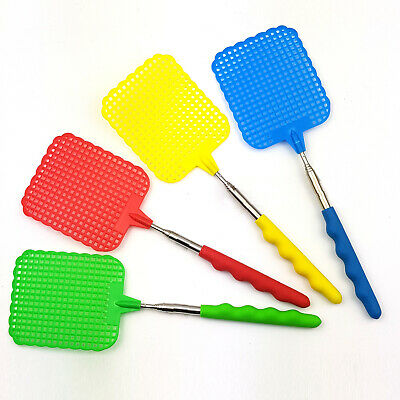AU4.99 • Buy Extendable Telescopic Fly Swatter Swat Handle Extends To 72 Cm Insect Mosquito