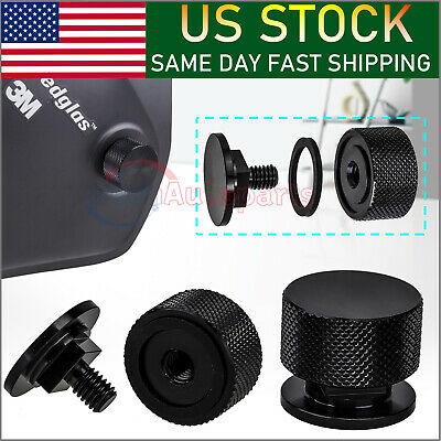 UPGRADE Black Aluminum Pipeliner Welding Helmet Fasteners (Round) Headgear • 14.88$